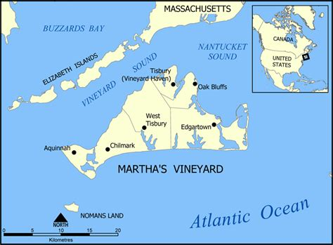 Chappaquiddick Island Map Martha S Vineyard