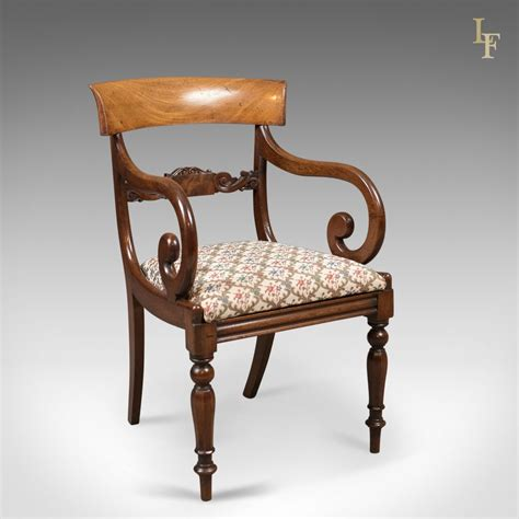Scroll Arm Chair Design Ideas Antique Scroll Arm Chair Regency Mahogany C 1830 Antiques