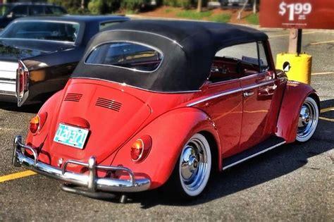 red volkswagen convertible 65 vw convertible lowered volkswagen bug beetle cool