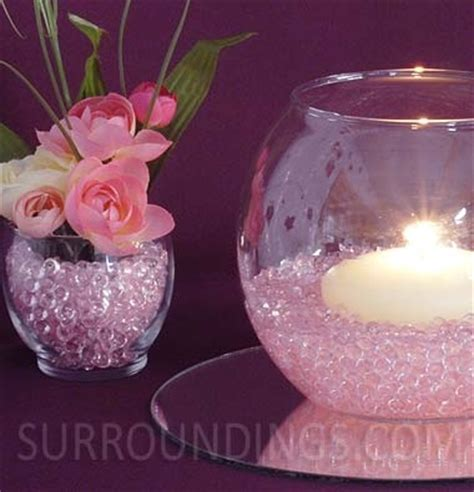 Tea Cups Decorations Blooms In Diamond Drops Floating Candle Centerpiece
