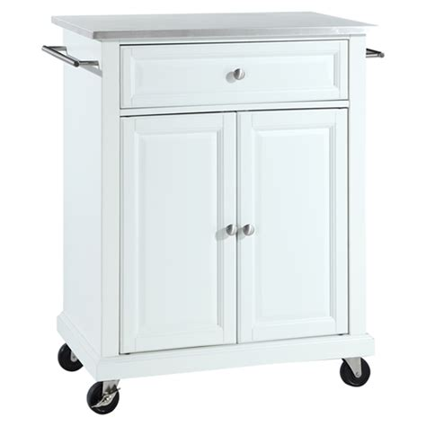 stainless steel kitchen island cart stainless steel top portable kitchen cart island casters