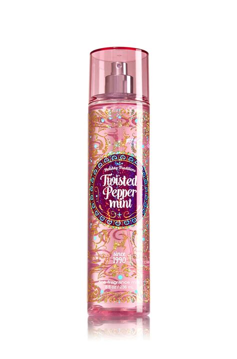 Twisted Peppermint Mist Bath And Works twisted peppermint fragrance mist signature collection bath works fragrances