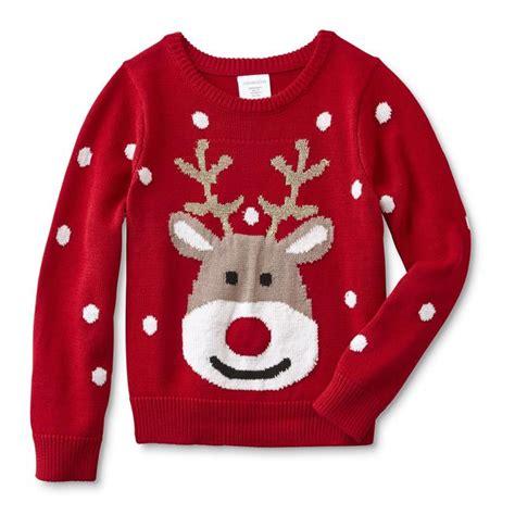 toughskins girls lighted christmas sweater reindeer