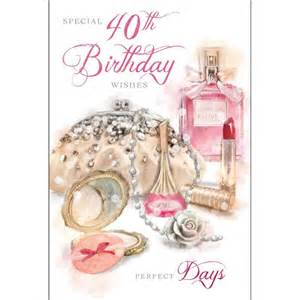 special 40th birthday wishes card karenza paperie