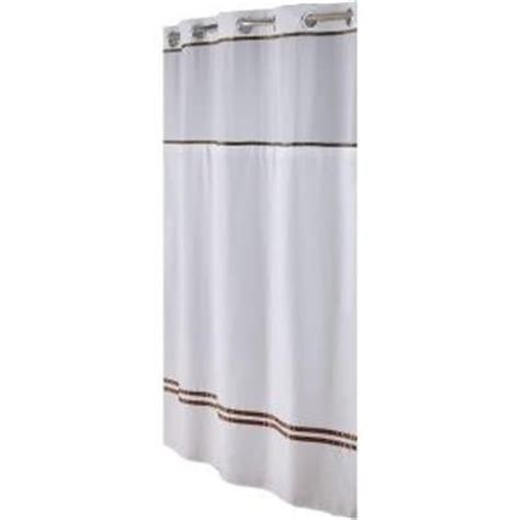 hookless shower curtain brown hookless shower curtain in white brown escape rbh40es305 the home depot