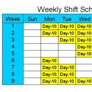 10 Hour Shift Templates by Schedule Templates Free Calendar Template 2016