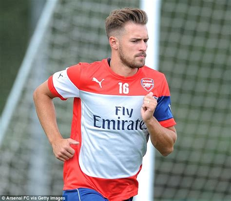 aaron ramsey hairstyle 2014 aaron ramsey does david beckham impression in arsenal pre