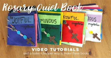 rosary quiet book pattern rosary quiet books video tutorials and a simpler version