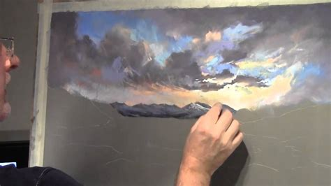Painting With Pastels painting clouds in pastel
