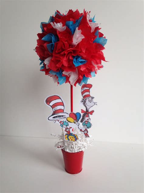 dr seuss centerpieces dr seuss birthday decoration centerpiece by