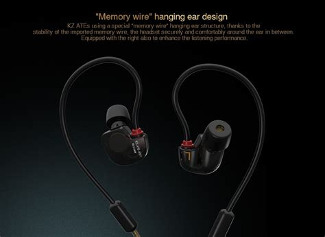Knowledge Zenith Kz Ate Earphones With Mic Hifi Stereo Bass knowledge zenith copper driver hifi sport earphone with