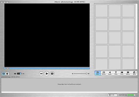 imovie slideshow templates create a photomontage with imovie