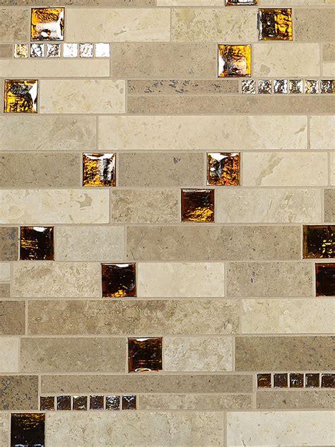 brown glass travertine mix backsplash tile - Brown Glass Travertine Mix Backsplash Tile
