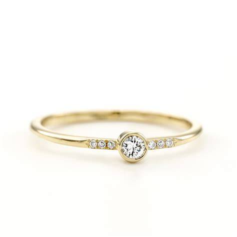 Simple One Engagement Rings by Engagement Ring Simple Ring Micro Pave