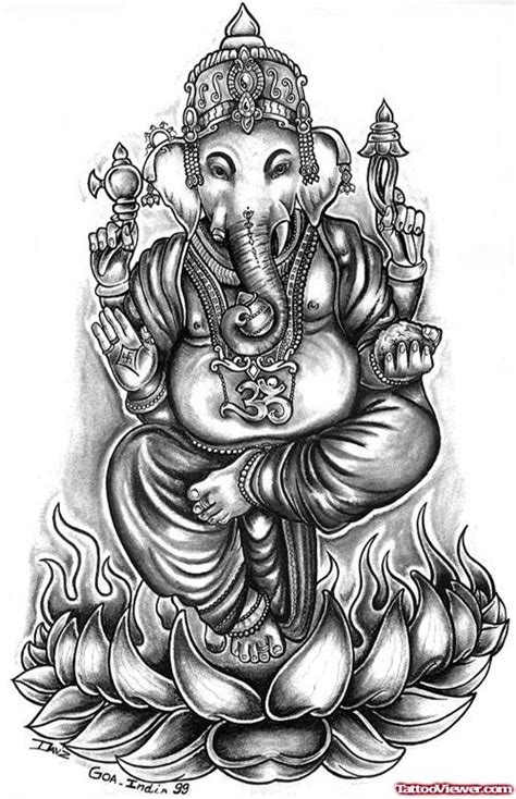 ganesha tattoo hip elephant head lord ganesha tattoo design tattoo viewer com