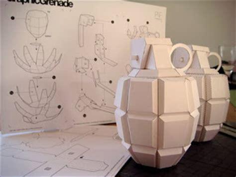 Papercraft Grenade - bettyfishcake paper grenades