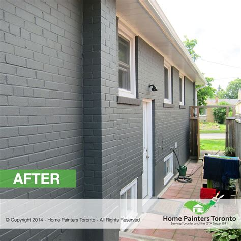 exterior brick paint before and after toronto brick painting contractor brick house painter