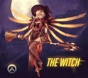 Next Curtain Size Guide Mercy And Witch Mercy Overwatch Drawn By Naoyi Danbooru