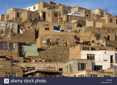 houses in city houses in kabul city afghanistan stock photo royalty