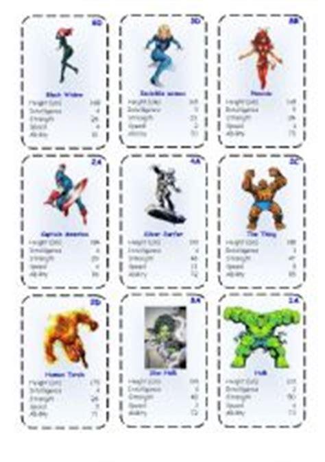printable animal top trump cards english teaching worksheets heroes