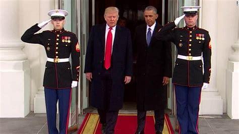 donald j trump inauguration day white house magnet trump s strain with obama marks departure cnnpolitics com