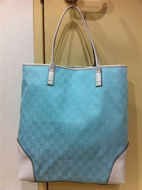 Jas Gucci Kawaii Jas Collections Ready Stock Gucci Blue Tote