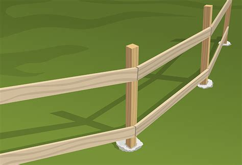 Porch Hangers by How To Install Wood Fence Rails At The Home Depot