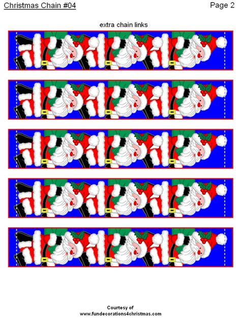 printable xmas paper chains 1278 best images about christmas printables on pinterest