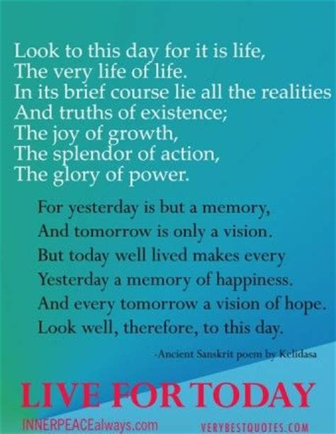 new year poems and quotes live for today quote poem best