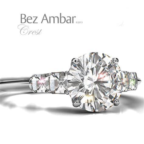 four blaze diamonds engagement ring