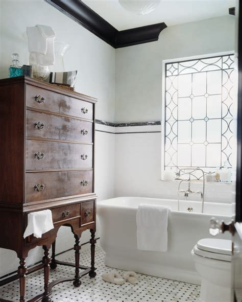 bathroom tile ideas houzz 10 gorgeous black and white bathrooms huffpost