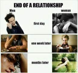 Breaking Up Meme - break up girls vs boys