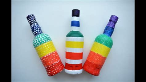 glass bottle craft as a home decor crafts and arts ideas glass bottle craft ideas diy bottle decoration ideas