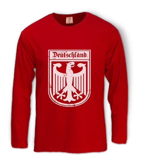 Deutschland T Shirt by Deutschland Germany Eagle Crest Sleeve T Shirt German