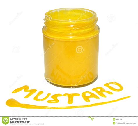 Mustard L Jar Of Mustard Stock Image Image Of Mustard