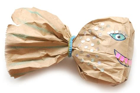 Paper Bag Fish Craft - make a paper bag fish fish craft and boredom busters