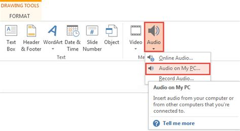 how to insert audio in powerpoint 2013 free powerpoint