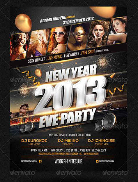 15 new year eve flyer psd templates images new year s