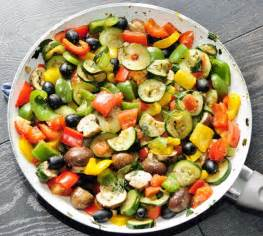 healthy dish salads rainbow vegetable side recipe vegetables olives and