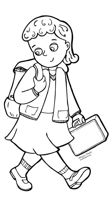 coloring pages school uniform school uniform coloring pages