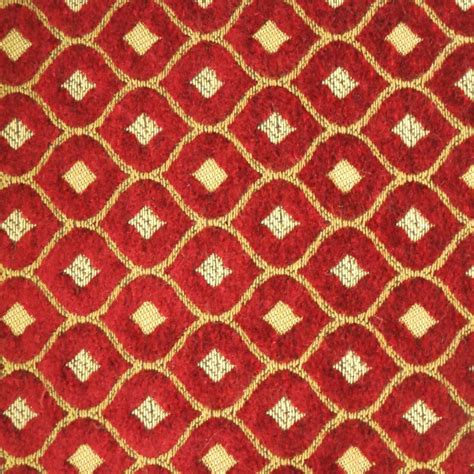 fabrics and upholstery diamond red and gold decorative chenille fabric chenille