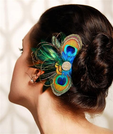 Wedding Hair Accessories With Feathers by Peacock Feather Bridesmaid Hair Accessories Wedding