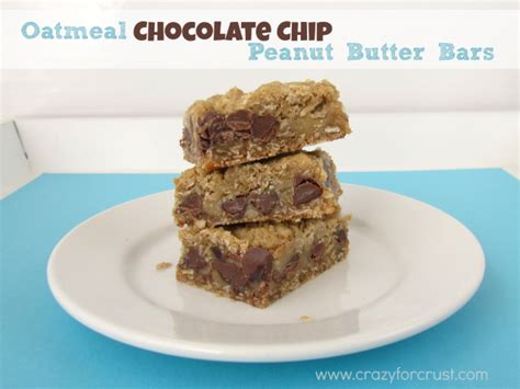 Peanut Butter Chocolate Chip Bars oatmeal chocolate chip peanut butter bars recipe 3 just a pinch recipes