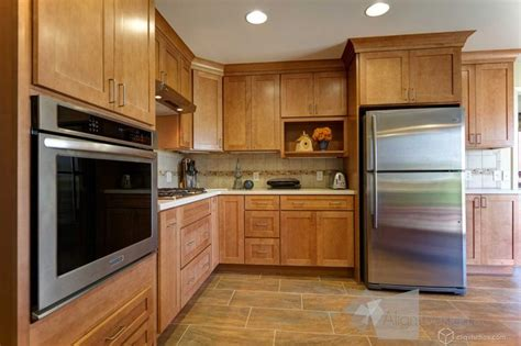 Caramel Kitchen Cabinets by Dayton Maple Caramel Mission Kitchen Cabinets From
