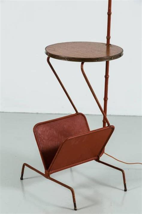 ore furniture floor l end table magazine rack combination ebay jacques adnet floor l with table and magazine rack at 1stdibs