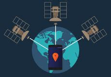 Satellite Phone Number Tracker Global Positioning System Gps Stock Photography Image