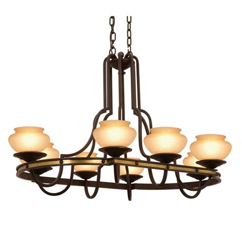 Oval Chandeliers Durango Oval Chandelier 8 Light