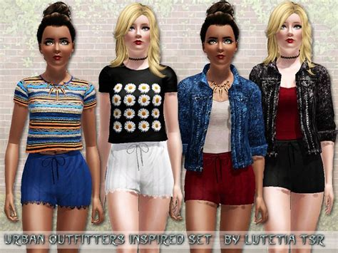 sims 3 teen clothes lutetia s uo inspired set shorts teen the sims 3