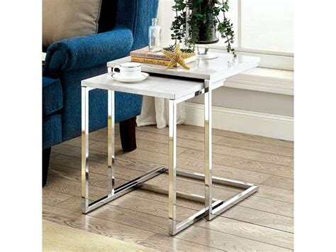 faux marble nesting tables sue white faux marble nesting table shop for affordable