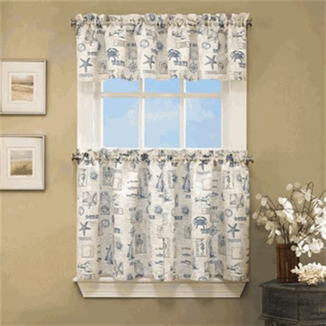 lorraine home fashions curtains kitchen tier curtains by the sea kitchen curtains by